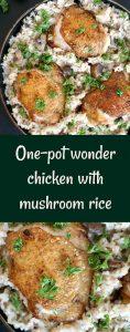 One-pot wonder chicken with mushroom rice