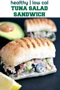 Tuna Salad Sandwich with avocado, black olives and cucumber, a delicious and healthy recipe that can be enjoyed at home or as a working lunch. Filling, nutritious, and a lot tastier than any store-bought sandwich.