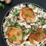 One-pot wonder chicken with mushroom rice