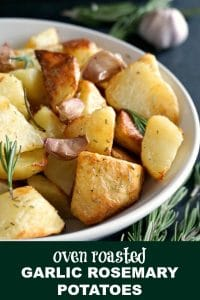 Oven roasted garlic rosemary potatoes, a side dish after my own heart. Are you looking for the best side dishes for the Thanksgiving dinner or the best side dishes for the Christmas dinner? Well, here you have one of them. And if you want to take that Sunday roast to a whole new level, you need to follow a few, very easy steps which will guarantee a smashing success.