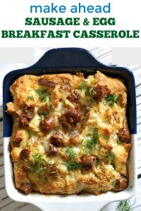 Make Ahead Sausage and Egg Breakfast Casserole