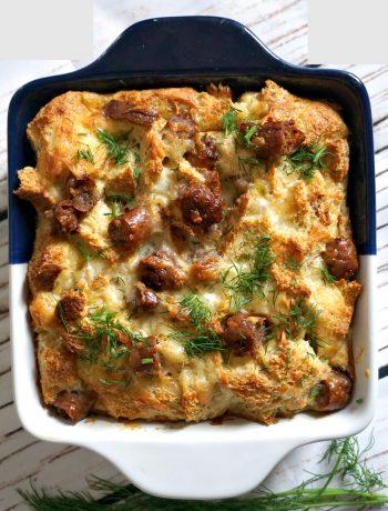 Make ahead sausage egg breakfast casserole