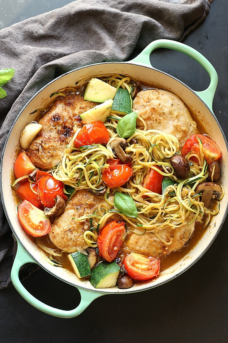 Healthy Low-Carb Chicken Zucchini Skillet