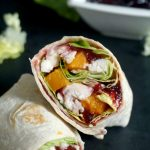 Healthy leftover turkey wraps with cranberry sauce