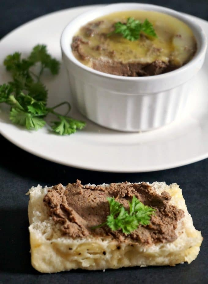 Quick chicken liver pâté