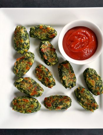 Healthy Baked Veggie Tots, a fantastic snack or appetizer that even veggie haters will love. Nutritious, delicious, great any time of the day. Particularly nice as a finger food for babies and toddlers.