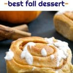 Fluffy Pumpkin Pie Cinnamon Rolls, a sweet treat for all the pumpkin lovers out there. Fall wouldn't be the same without pumpkins, and we must make the most of them before the season is over.A great choice for the Thanksgiving menu, or throughout the pumpkin season.