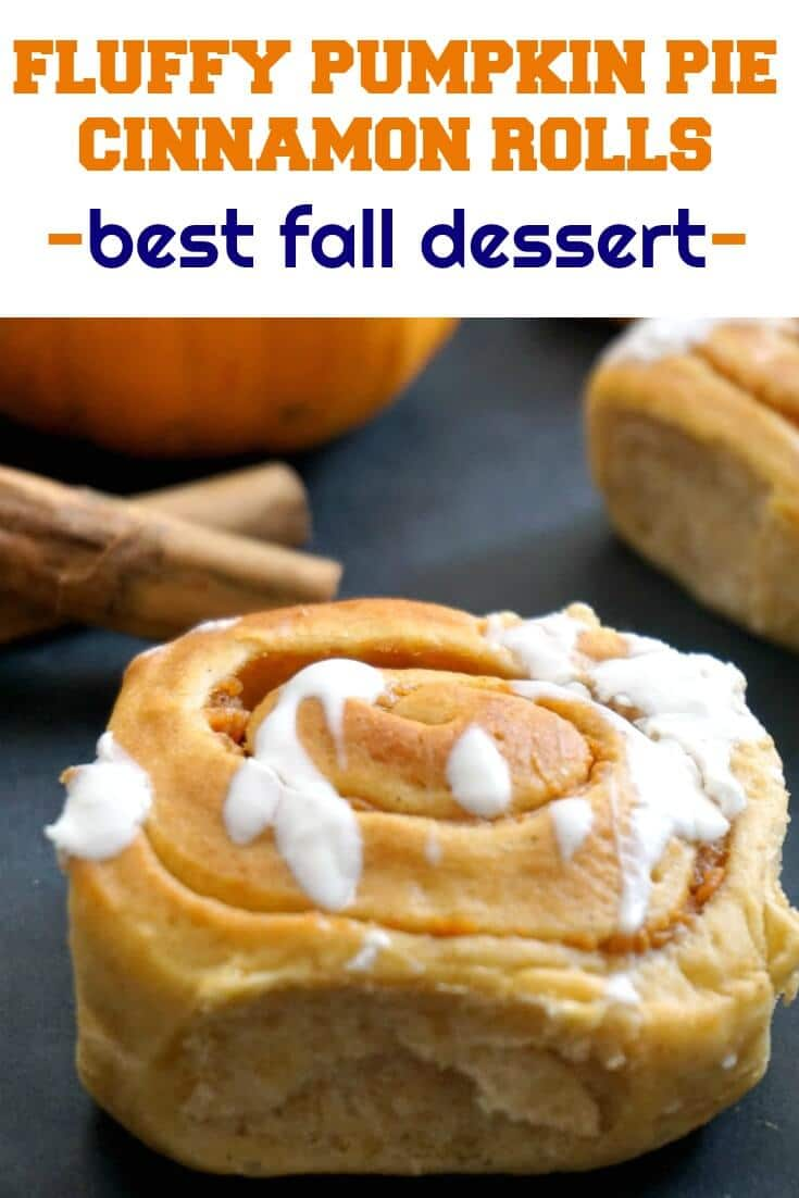 Easy  Homemade Fluffy Pumpkin Pie Cinnamon Rolls, a sweet treat for all the pumpkin lovers out there. Fall wouldn't be the same without pumpkins, and we must make the most of them before the season is over.