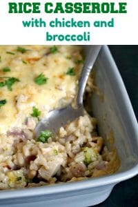 Rice Casserole with Leftover Chicken and Broccoli, a fantastic dish that makes dinner with your family a special moment. Comforting, filling, deliciously cheesy, this casserole is a great favourite of mine.