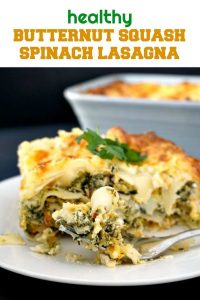 Healthy Butternut Squash Spinach Lasagna, a delicious vegetarian dish that gives comfort food a new meaning. Very easy to make, this recipe can be enjoyed by the whole family, from little to big ones.