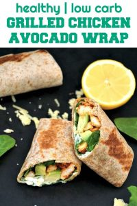 Grilled Chicken Avocado Wrap with spinach makes a quick easy chicken recipe that is healthy, nutritious and delicious; especially when time is short and preparing a big meal is not an option.
