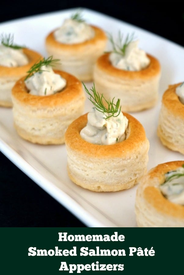 Homemade Smoked Salmon Pâté, one of the quick easy party appetizers everybody loves. Delicious, and so simple, yet so delicate. The tastiest bite-sised treats.