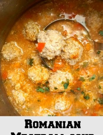 "Romanian meatball soup, truly a classic and most certainly a much loved soup. Hearty and comforting, our ""ciorba de perisoare"" has been a favourite for years, and is regarded as one of our traditional dishes. A great dish for a cold winter."