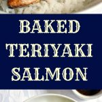 Baked teriyaki salmon with garlicky broccoli on a bed of rice, a delicious Japanese recipe that is healthy and nutritious. The homemade teriaky sauce is way better than any store-bought sauce, and it gives the salmon a delightful Asian touch.