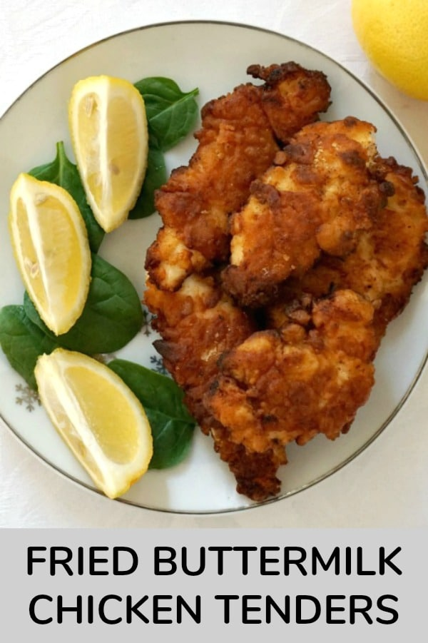 Fried Buttermilk Chicken Tenders, so juicy on the inside and cripsy on the ouside. Better than any take away, this recipe is super easy to make.