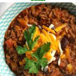 Homemade Chili with Beans, or Chili con Carne, comfort food at its best. Low-carb, high in protein, this dish is healthy, delicious and nutritious. This delightful Mexican dish is the most delicious dinner you can have with your family.