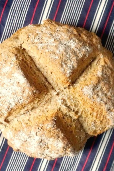 Overhead shoot of a soda bread