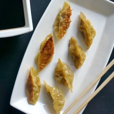 Pan-Fried Dumplings (Chinese Potstickers)