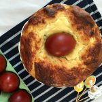 Romanian Easter Bread or Easter Cake, which is translated Pasca, is a traditional dessert eaten on Easter Day. It's usually made with cow's cheese filling and sultanas or raisins, and it's absolutely delicious.