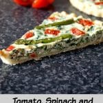 Tomato, Spinach and Asparagus Tartlets with Ricotta