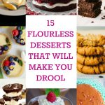Collage of flourless desserts