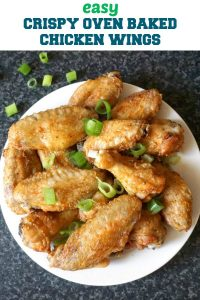 Easy Crispy Oven Baked Chicken Wings with a touch of paprika and garlic, a fantastic appetizer for any big celebration like Game Day or indoor/outdoor parties. A lot better than the fried ones, these wings are absolutely delicious.