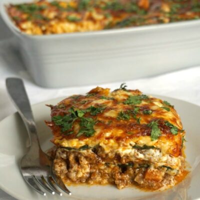High Protein Low Carb Zucchini Lasagna