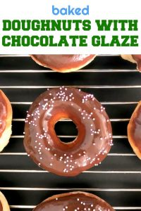 Oven-Baked Doughnuts with Chocolate Glaze, rich, decadent, with an incredibly fluffy texture, and a lot healthier than the fried version. These doughnuts are heaven!