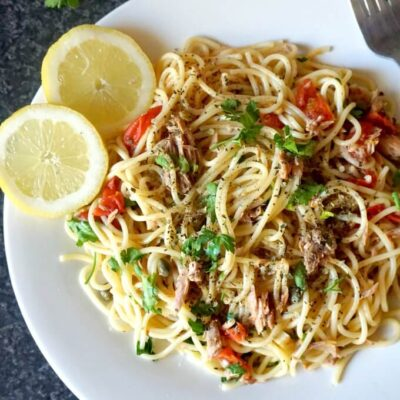 Quick Canned Tuna Spaghetti