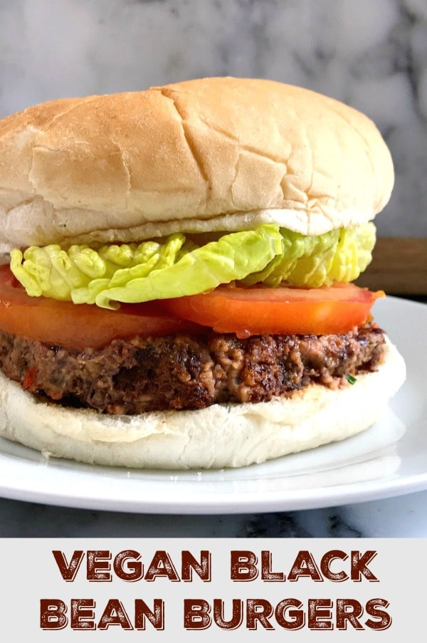 Vegan Black Bean Burgers, the best meat-free burgers that can be ready in well under 30 minutes. Low-calorie, high-protein, highly nutritious, and absolutely delicious.
