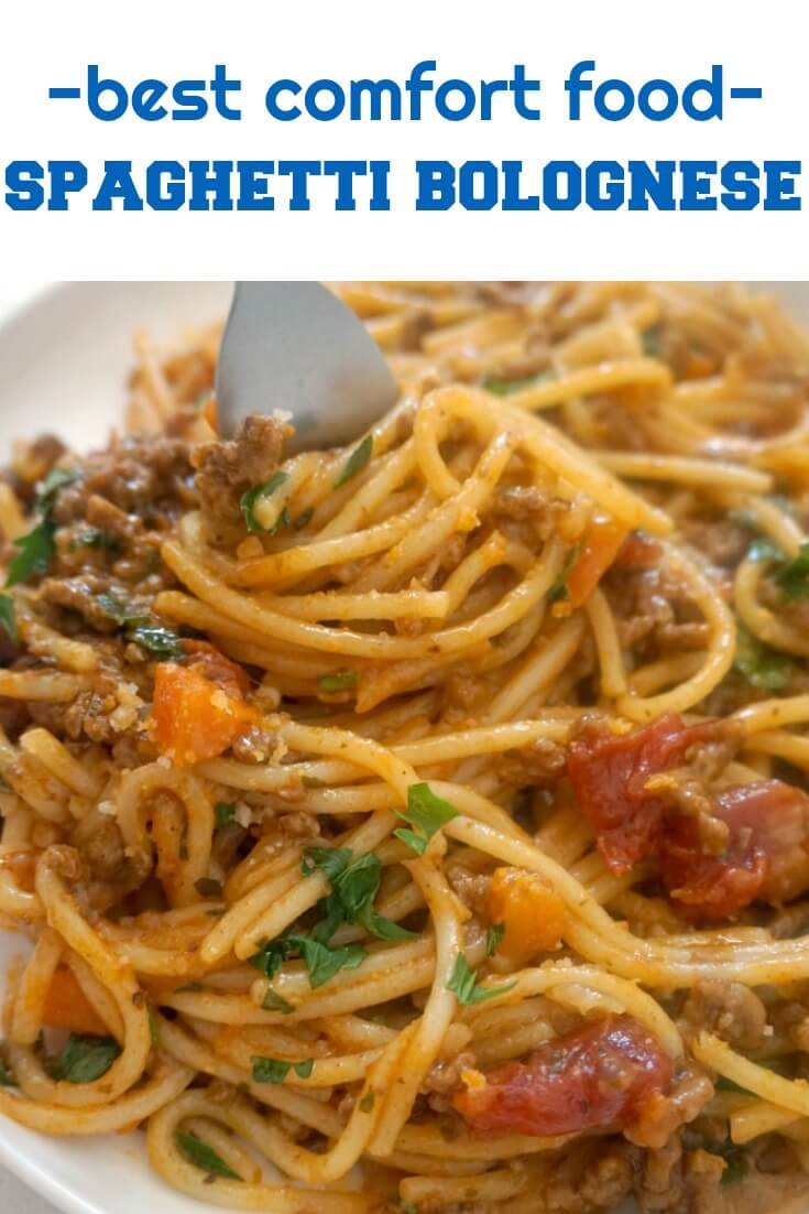 Spaghetti Bolognese, the best comfort food no matter the season. A fabulous homemade bolognese sauce full of big flavours, and the nation's favourite pasta make the best combo for a healthy and nutritious dinner. A kids' favourite pasta recipe.