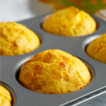 Cornbread muffins in a muffin tin