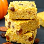 A stack of 3 pumpkin oatmeal bars