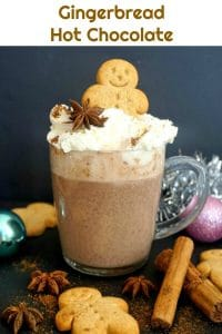 Gingerbread Hot Chocolate, an exquisite festive drink that can be enjoyed throught the cold season, especially at Christmas.