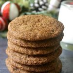 Chewy Ginger Snap Cookies baked the old-fashioned way with molasses and earthy christmassy spices, the best cookies for the festive season. Call them ginger molasses cookies, ginger nut cookies or simply ginger cookies, you know you are in for a treat.The ginger snaps are a traditional Christmas cookie recipe popular all over the world. They are a great edible gift too, and great fun to bake with the kids too. #gingersnapcookies, #gingernutcookies, christmascookies, #cookies