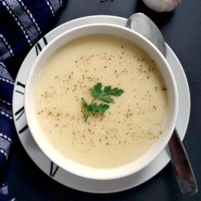 Easy Cream of Garlic Soup