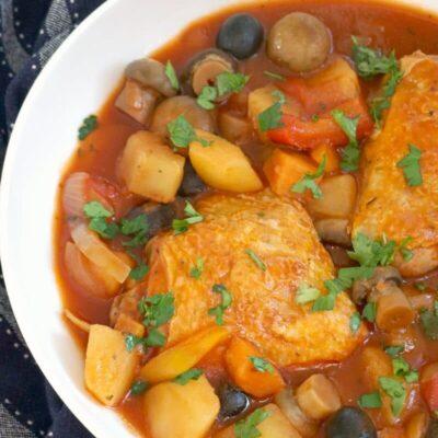 Healthy Slow Cooker Chicken Cacciatore