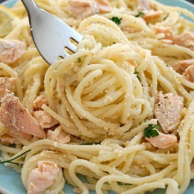 15- Minute Salmon Pasta Carbonara