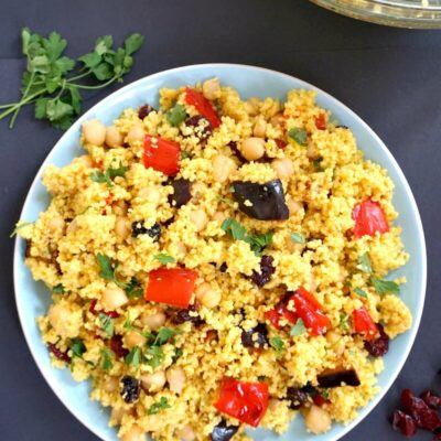 Moroccan Couscous Salad with Chickpeas