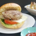 Healthy Tarragon Turkey Burgers, a fantastic homemade recipe that makes for a quick and delicious dinner or a BBQ. Ready in less than 15 minutes, incredibly tasty, and a lot lighter than the classic beef burgers, these ground turkey burgers cooked on the grill are so juicy. Why not have them for Game Day too? We can also have healthy food for Superbowl, and these turkey burgers are just perfect. Quick and easy to make too. #superbowlfood, #gameday, #turkeyburgers, #healthyfood, #groundturkey