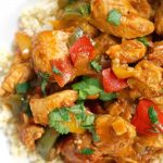 Easy Chicken Goulash, a delicious one-pot meal that is ready in 30 minutes. Packed with great flavours, this stew makes a great comfort food for the whole family. It's low carb, gluten free, and high protein. This delicious Hungarian Chicken Goulash is a great midweek dinner that is so easy to make, and can be used with just a few simple ingredients. If you are looking for quick and easy dinner recipes, this dish is for you. #paprikash, #chickenrecipes, #chickenpaprikash, #dinners
