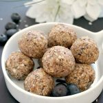 Vegan Blueberry Energy Balls, a healthy no-bake snack that is perfect for times when your sweet tooth craves a treat. Super delicious, with no refined sugar added, these bites are naturally gluten-free.