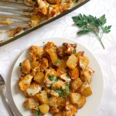 Cheesy Chicken Potato Bake