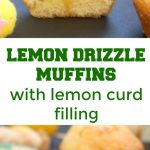 Moist Lemon Drizzle Muffins with Lemon Curd Filling, a little treat for Easter. If you like the classic lemon drizzle cake, you will absolutely love these little beauties. Super easy to make, great for kids and grown-ups alike.