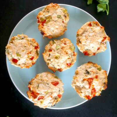 Healthy Turkey Meatloaf Muffins with Veggies