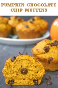 Pumpkin Chocolate Chip Muffins, incredibly fluffy and baked to perfection. The muffins are super easy to make, and are ready in well under 30 minutes from scratch. Fall's favourite veggie and chocolate are definitely a match made in heaven.