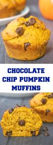 Pumpkin Chocolate Chip Muffins, incredibly fluffy and baked to perfection. The muffins are super easy to make, and are ready in well under 30 minutes from scratch. Fall's favourite veggie and chocolate are definitely a match made in heaven. Great as a snack, or dessert, they make a great kids' treat for Thanksgiving.