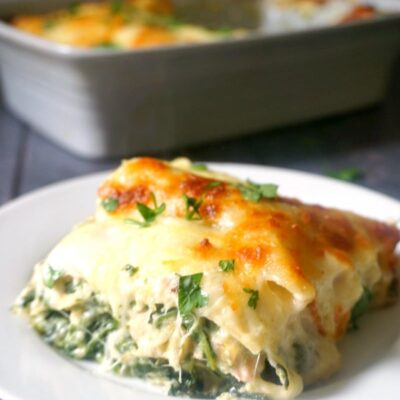 Leftover Chicken, Spinach and Artichoke Lasagna